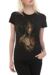Marvel Guardians Of The Galaxy Groot Fireflies Girls T-Shirt
