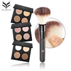 HUAMIANLI One Set  Maquiagem Contour Bronzer and Highlighter illuminator Eyeshadow Pallete with Brush Beauty Makeup Cosmetics