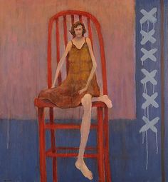 """You will never be able to experience everything. So, please, do poetical justice to your soul and simply experience yourself."" — Albert Camus, Notebooks, 1951-1959 (Mel McCuddin, The Red Chair 2015, oil)"