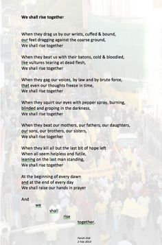 We shall rise together
