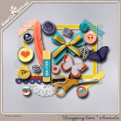"""Scrapping Time"" element pack :: Memory Mix: November 2013 :: Memory Scraps"