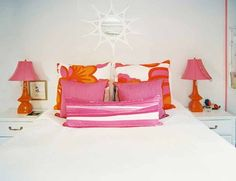 Orange and pink bedroom