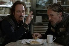 """""""A crooked cop opens up a crooked donut shop, anyone else see the irony in that?"""" This is why I love Tig!"""