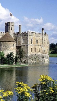 Beautiful Leeds Castle ~ rising from the moat with 500 acres of beautiful parkland and formal gardens, Kent, England .
