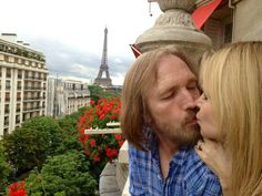 Tom Petty in Paris with his wife, Dana. I think they were on their honeymoon.