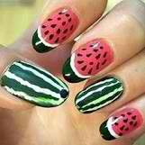 Alternative way for watermelon nails