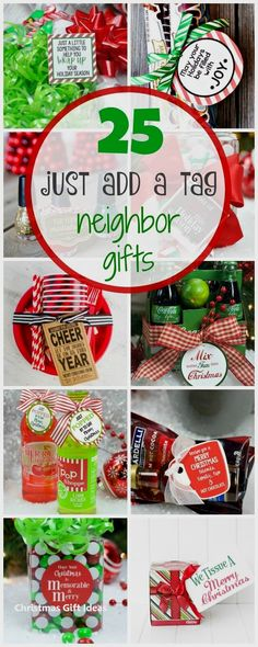 Easy Neighbor Gifts: Just Add a Tag What cute and easy Christmas gift ideas! Just add a Tag Neighbor Gifts.What cute and easy Christmas gift ideas! Just add a Tag Neighbor Gifts. Christmas Gifts For Coworkers, Family Christmas Gifts, Homemade Christmas Gifts, Homemade Gifts, Craft Gifts, Diy Gifts, Holiday Gifts, Christmas Holidays, Christmas Crafts