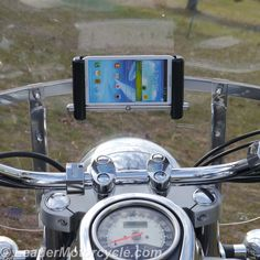 Got a big-ass phone? The SLIDE motorcycle phone mount (shown here in horizontal; also avail for vertical) can be adjusted to just about any phone and case/cover on it. Put it right in front of you with the windshield mount! http://www.leadermotorcycle.com/windshield-mounts/