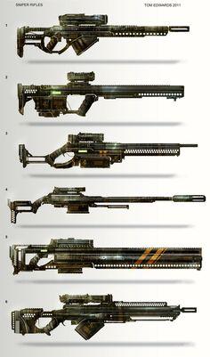 Sniper Rifles by TomEdwardsConcepts on deviantART