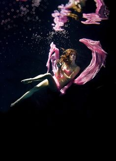 "♂ Simply beautiful underwater fashion photography lady in pink ""Fairy Of Water (Underwater)"" by Jack Photo Studio  I love underwater photography"