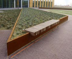 Corten steel retaining wall. Pinned to Garden Design - Walls, Fences & Screens by Darin Bradbury - Pesquisa do Google