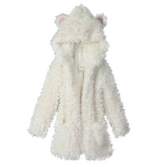 Women's Casual Cute Fluffy Fur Hoodie…