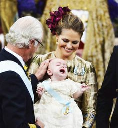 Prince Nicolas of Sweden on his baptism on October 11, 2015