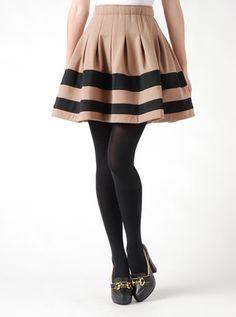 Pinky Girls | (ピンキーガールズ) | バイカラーボーダースカート |