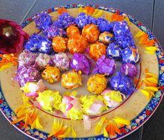 Blüten Frischkäse-Kugeln