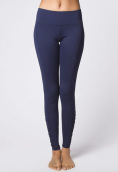 3818a94c998713 Navy Ruched Legging Shop these adorable and comfortable navy yoga leggings!  Designed by Domingo Zapata