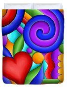 Heart And Swirl Duvet Cover