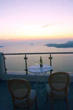 our hotel room in Santorini