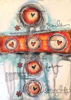 Art Journal Mixed Media - Original Art - Love Circles - product images  of