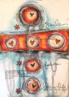 Art Journal Mixed Media - Original Art - Love Circles - product images of