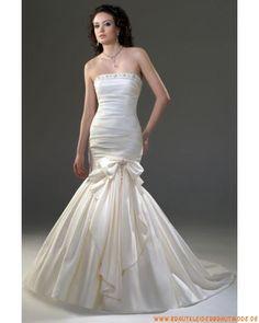 Elegante maßgeschneiderte Brautkleider aus Taft München kaufen online Meerjungfrau