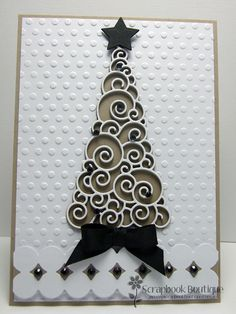 Scrapbook Boutique: 'Christmas Tree' Card by Sue K