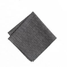 Boys' chambray pocket square in pindot