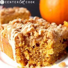 Dairy Free Pumpkin Coffee Cake- easy to make and so delicious!! Perfect for Thanksgiving!