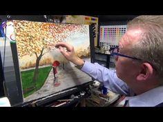 Beginners Acrylic Painting Tutorial-Autumn Rain in the Park Part 1 - YouTube