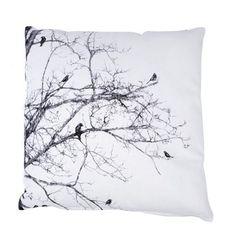 Kussen vogels op tak ecru/sepia 45x45 cm, alles voor je klus om je huis & tuin te verfraaien vind je bij KARWEI
