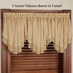 Swag Curtains, Curtains And Draperies, Elegant Curtains, Home Curtains, Colorful Curtains, Kitchen Curtains, Curtains 2018, Valances, Window Curtains