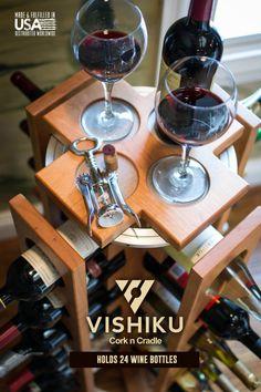 He encontrado este interesante anuncio de Etsy en https://www.etsy.com/es/listing/202075498/wine-rack-wood-wine-rack-wine-storage