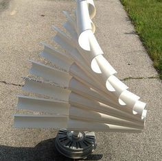 How to make a wind generator out of PVC pipe and an old front load washing machine.