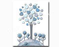 Blue nursery art, baby boy wall art for nursery decor children wall art, children room decor, baby boy room decor, baby boy nursery print