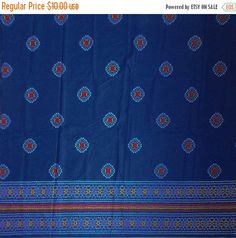 Items similar to One meter of indian batik cotton fabric in blue on Etsy Roman Shades, Cotton Fabric, Window, Indian, Trending Outfits, Bedroom, Unique Jewelry, Handmade Gifts, Awesome