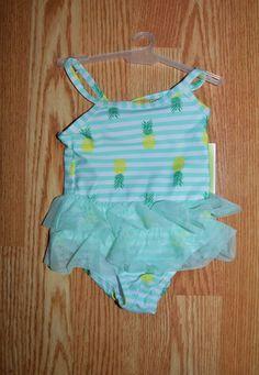 NWT! Super cute Circo pineapple print tutu swimsuit - size 6/9 months #Circo #OnePiece