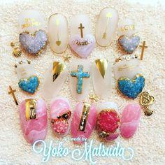 """627 Likes, 1 Comments - yoko matsuda (@rp_yoko) on Instagram: """"♡BWJ♡ 新作ネイルお披露目♡ 一部デモに含まれないアートもごさいます。 #松田ようこ"""""""