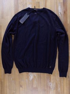 auth Z ZEGNA ZZEGNA solid navy blue cotton sweater - Size Medium M - NWT | Clothing, Shoes & Accessories, Men's Clothing, Sweaters | eBay!