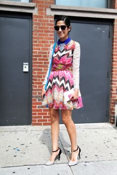 chevron patterned dress