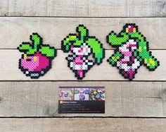 Bounsweet Family - Pokemon Perler Bead Sprites by MaddogsCreations on DeviantArt Perler Bead Disney, Perler Bead Art, Perler Bead Templates, Perler Patterns, Hama Beads Pokemon, Pearl Beads Pattern, Anime Pixel Art, Melting Beads, Beading Projects
