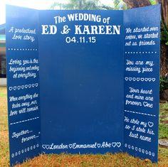 wedding photo booth :)