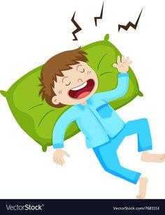 Boy in blue pajamas sleeping Royalty Free Vector Image Free Vector Images, Vector Free, Adobe Illustrator, Routine, Royalty, Cartoons, Pajamas, Pdf, Sleep