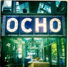 Ocho Lounge & Restaurant in the Havana Hotel - San Antonio. Amazing interiors and food.