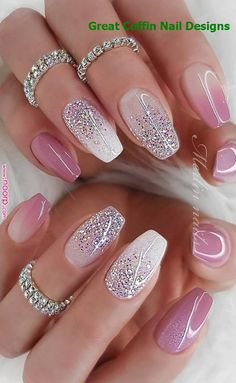 Hottest Awesome Summer Nail Design Ideas for 2019 Part 19 Nails nail art designs Cute Summer Nail Designs, Cute Summer Nails, Short Nail Designs, Cute Nails, Nail Summer, Summer Design, Nail Designs Spring, Sexy Nails, Summer Art