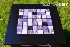 DIY Mosaic Table Top - Purple Patch DIY Crafts Blog