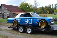 Nascar Race Cars, Old Race Cars, Sports Car Racing, Slot Cars, Old Hot Rods, Car Carrier, Ford Galaxie, Vintage Race Car, Dirt Track