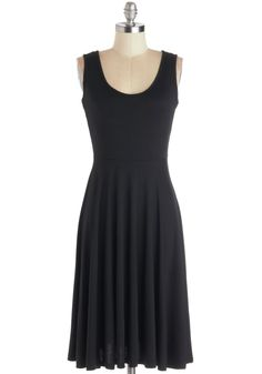 For Any Endeavor Dress in Black. For each and every occasion that calls for casual charm, reach for this flowy black tank dress! #black #modcloth