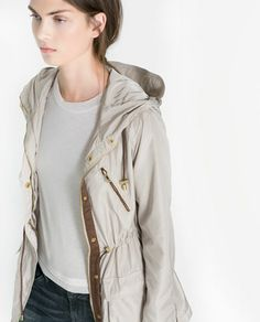 Image 4 of PARKA WITH HOOD AND POCKETS from Zara