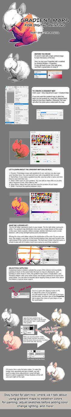 Gradient Maps for Digital Painting by rejamrejam Buy the artist a coffee!