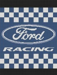 crocheted ford emblem pattern | CROCHET PATTERNS FORD RACING AFGHAN GRAPH E-MAILED.PDF